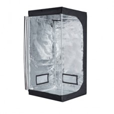 """TopoGrow D-Door 32""""X32""""X63"""" Indoor Grow Tent Room 600D Mylar High Reflective non Toxic Hut"""