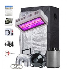 """TopoGrow Grow Tent Kit Complete LED 300W Grow Light, 36""""X20""""X63"""" Grow Tent and 4"""" Fan Filter Ventilation Kit and Hydroponics Indoor Plants Accessories Growing System"""