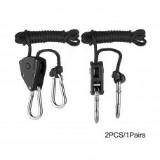 TopoGrow 1Pairs Rope Ratchet Reflector Grow Light YoYo Hangers 1/8'' 150lb