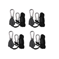 TopoGrow 1Pairs Rope Ratchet Reflector Grow Light YoYo Hangers 1/8'' 150lb